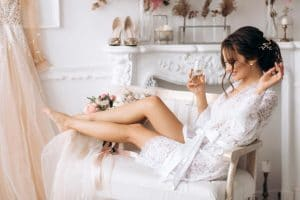 A bride to be prepares with wedding day tips